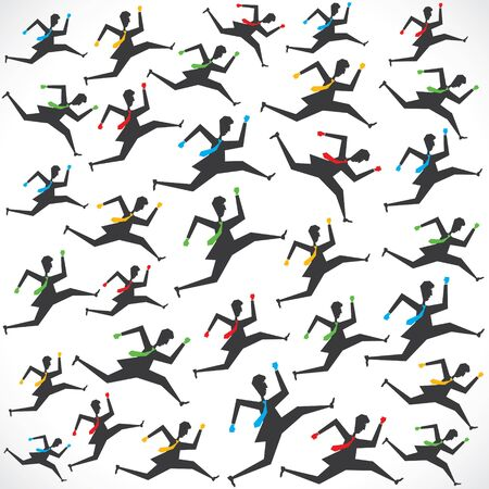 businessman running man pattern background stock vector Vector