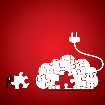 cloud computing concept stock vector Stock Vector - 18904922