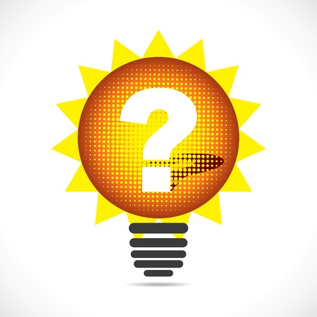 yellow bulb with question mark sign stock vector Stock Vector - 18904969