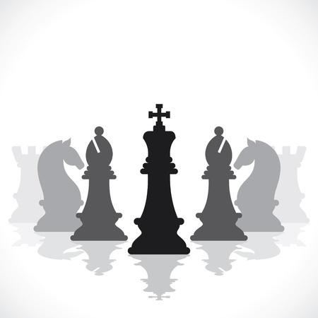chess knight: juego de ajedrez concepto de stock
