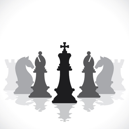 chess game concept stock  Illustration