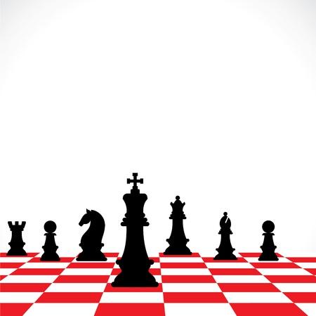 chess knight: trabajo en equipo stock de ajedrez concepto Vectores