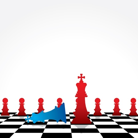 chess game concept stock Stock Vector - 18988661