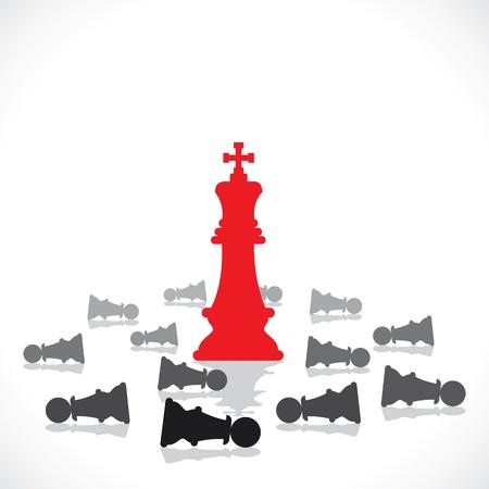 chess move: leadership concept stock