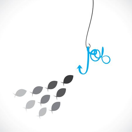 color image fish hook: recruitment concept