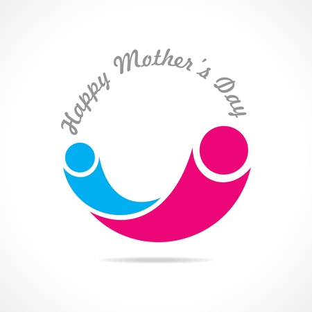 mothers day icon design stock Vector