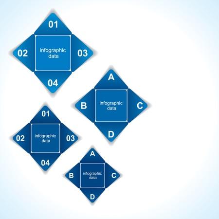 creative blue infographic design stock vector Stock Vector - 19032579