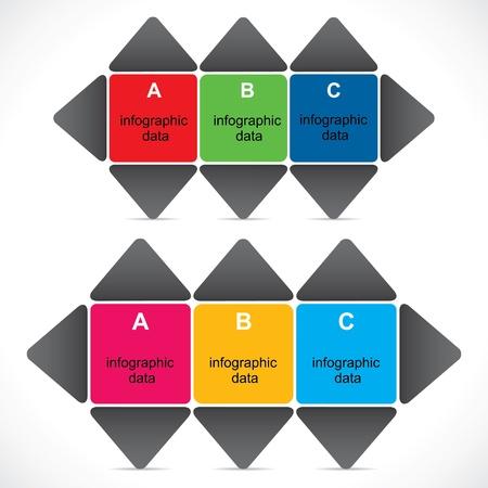 creative colorful infographic design stock vector Stock Vector - 19032577