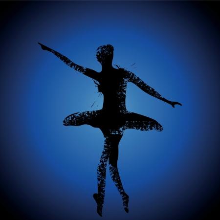 illustration of ballet dancer stock vector