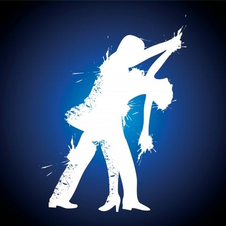 illustration of salsa couple dancer stock vector Illustration