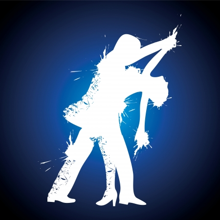 illustration of salsa couple dancer stock vector Vector