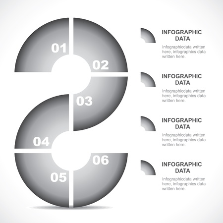 silver boder: abstract shape grey color infographic stock vector