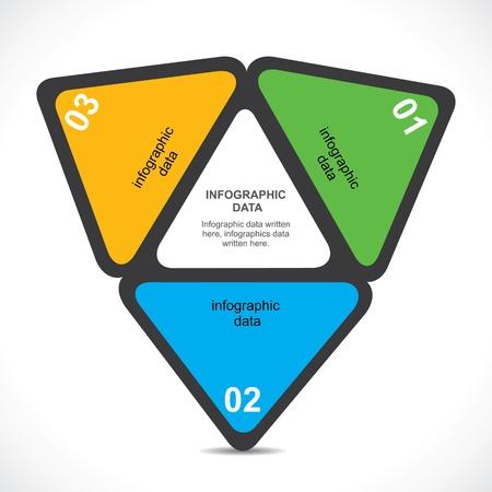 creative triangle infographic vecto Stock Vector - 19032592