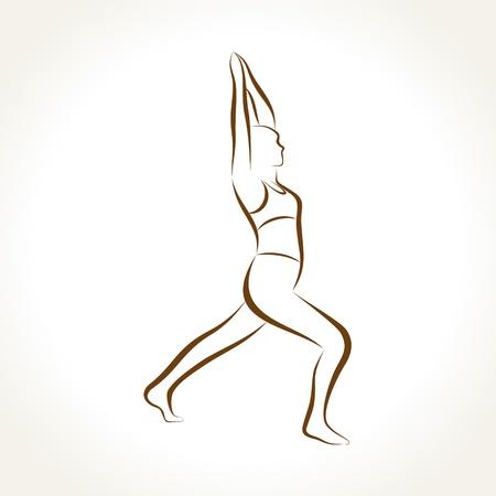 Yoga women figure stock vector Stock Vector - 19080365