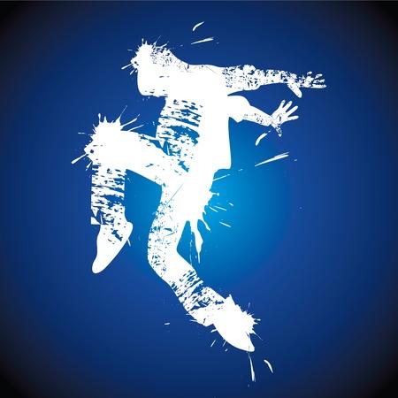 Joven bailando hip-hop stock vector