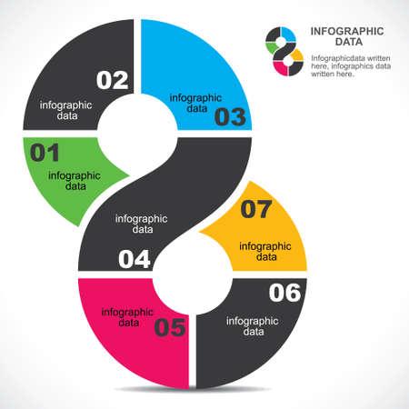 creative infographic design background stock vector Vector
