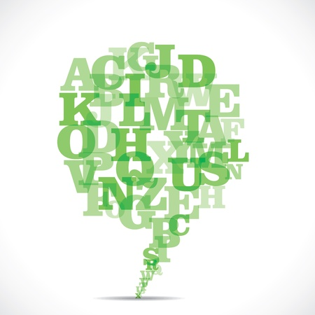 green alphabets make a message bubble Stock Vector - 19238616