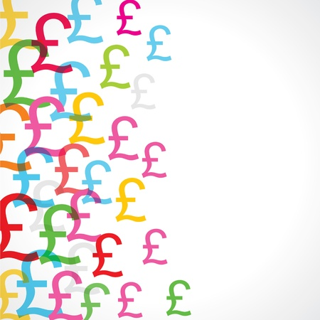 pound: Seamless pattern background of pounds signs
