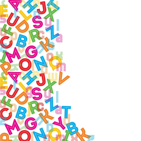 alphabet wallpaper: Colorful alphabet background stock vector