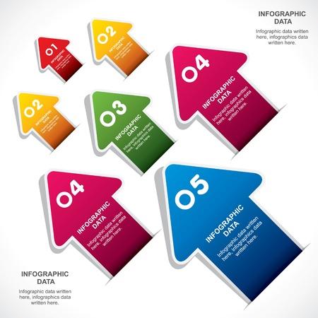 creative arrow info-graphic design stock vector