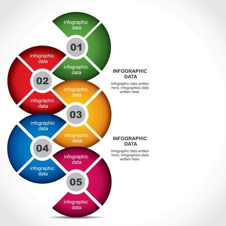 diseño info-gráfico creativo stock vector