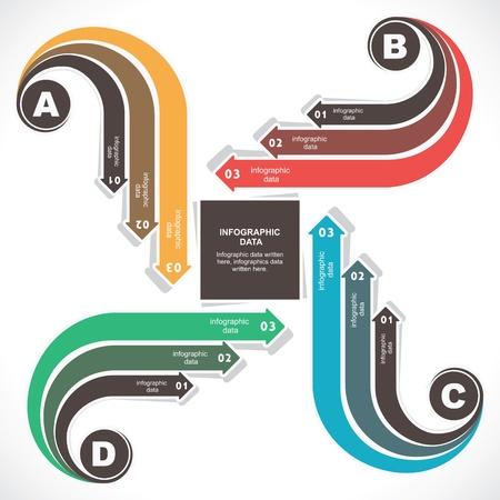 financial success: creative retro design info-graphic stock vector