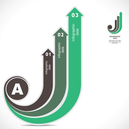green info-graphic background stock vector Stock Vector - 19453195
