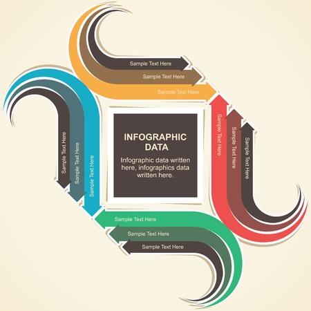 creative arrow info-graphic background Stock Vector - 19453235