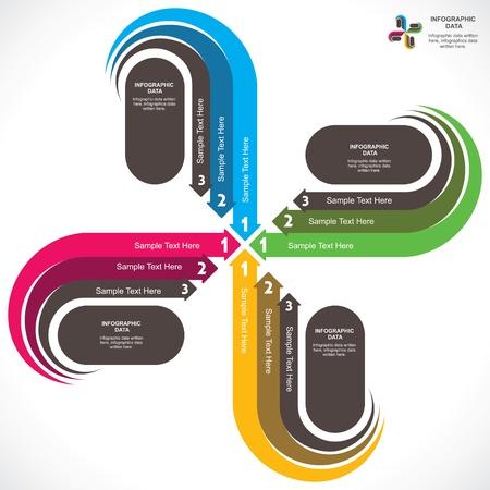 u turn: creative arrow info-graphic background