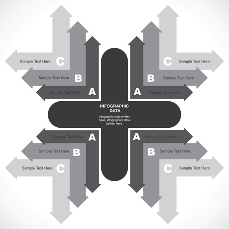 creative arrow info-graphic background Stock Vector - 19453223