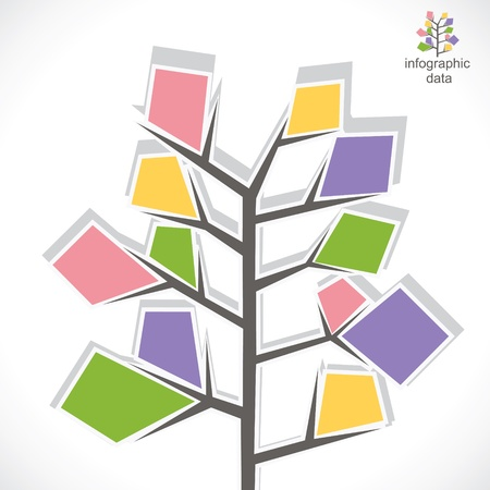 creative tree info-graphic stock vector Vector