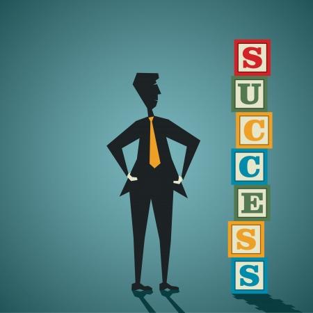building block: success word building block stock vector