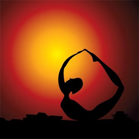 Yoga women figure stock vector Stock Vector - 19623020
