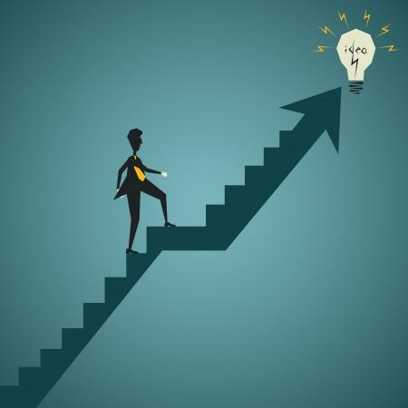 Geschäftsleute gehen fangen neue Idee, Konzept stock vector