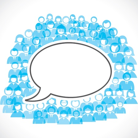 concept of communication between people stock Vector