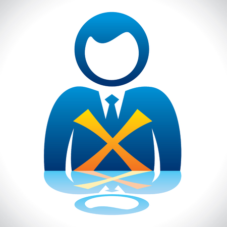 disapprove: men with wrong sign stock vector