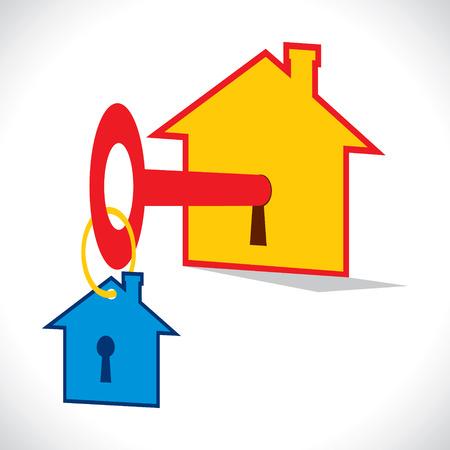 home key: tecla de inicio con la tecla de inicio cadena stock vector