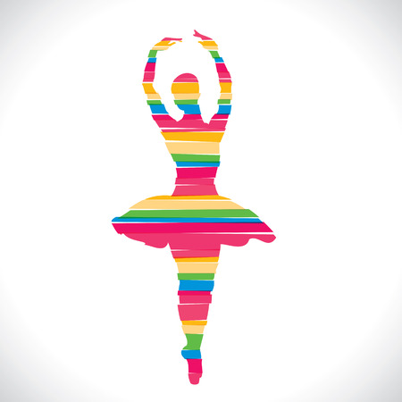 color dancing girl design with strip stock vector Vector