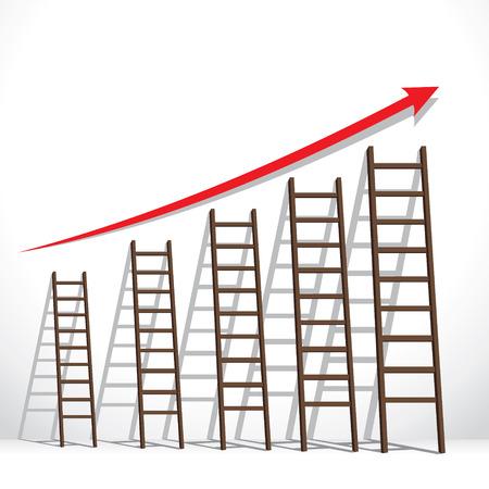 stair arrange in increase market graph concept stock vector Vector