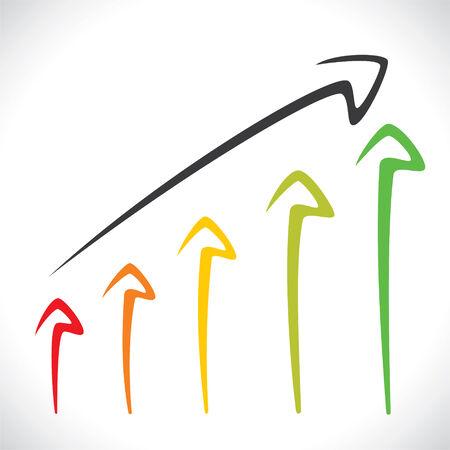 color arrow market graph stock vector