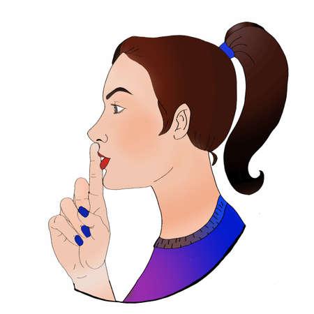 shut up woman who Illustration