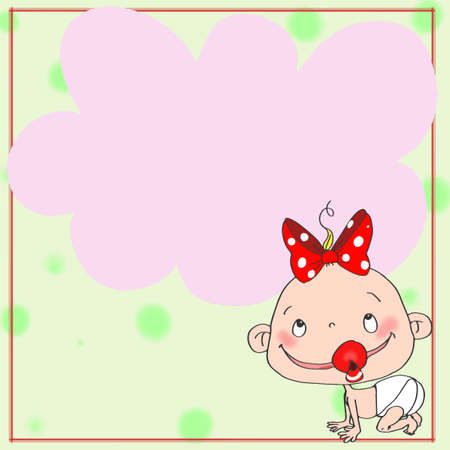 Female baby icon Illustration