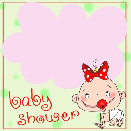 female baby icon Illustration