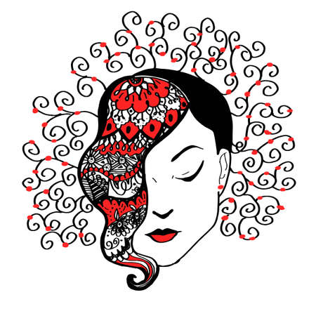 rn: Woman Icon Illustration