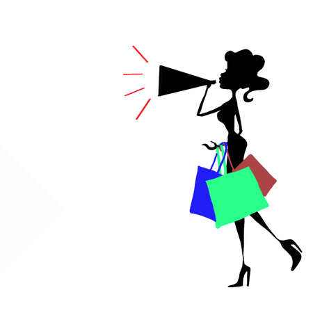 woman shopping icon