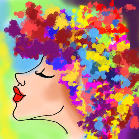 color woman face