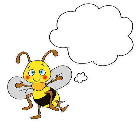 Cute bee who thinks