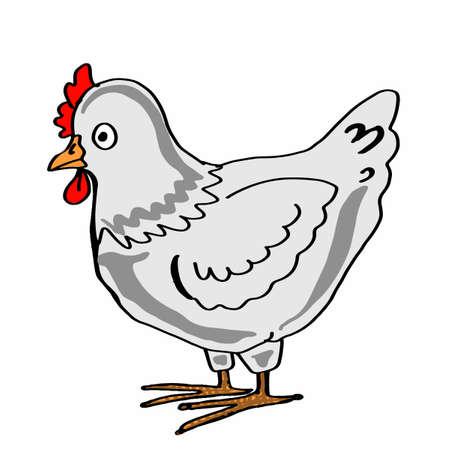 cute chicken icon