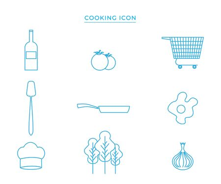 Group of cooking icon