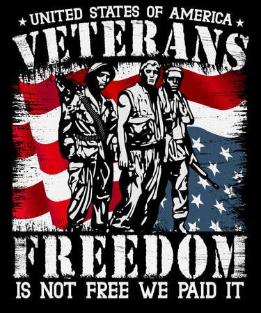 Freedom not for free veteran t shirt design